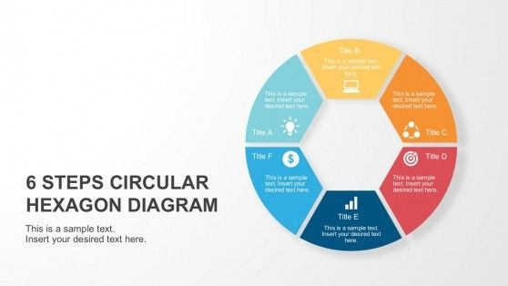 6 Steps Circular Hexagon Diagram Hexagon Powerpoint Slide Designs Diagram