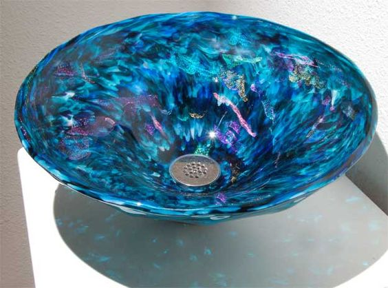Beautiful colors+Glitter=My perfect sink