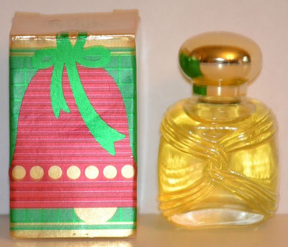 Vintage AVON Christmas YULETIDE WISHES ORNAMENT PAVI ELLE Cologne Splash1987 NEW