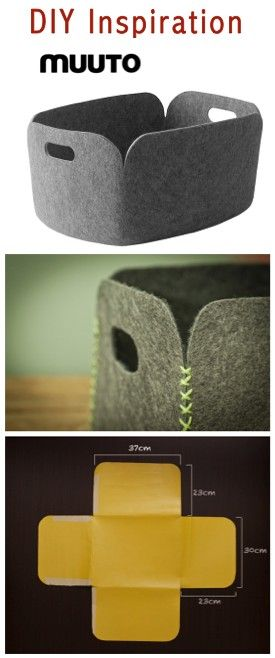 DIY Muuto Restore Basket -- tutorial on http://www.casadecolorir.com.br/2012/05/guarda-tralha-de-carpete.html