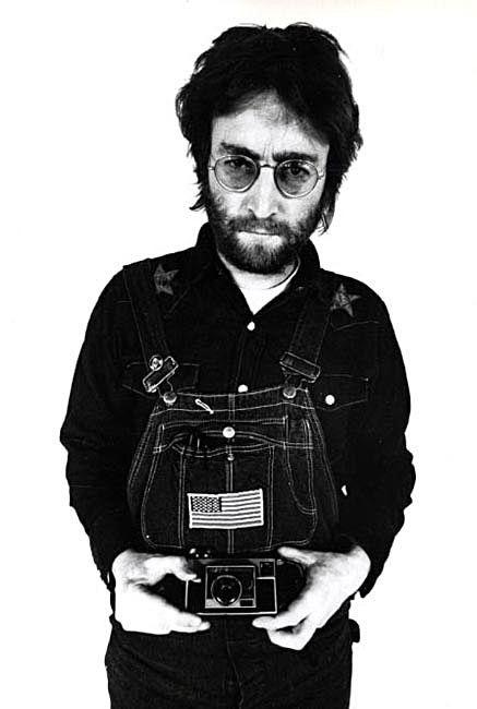 John Lennon with a Kodak Instamatic by Annie Leibovitz
