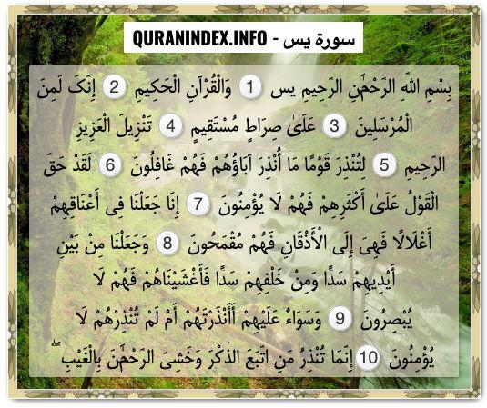 36 Surah Yaseen سورة يس Quran Index Search Quran Search Yaseen