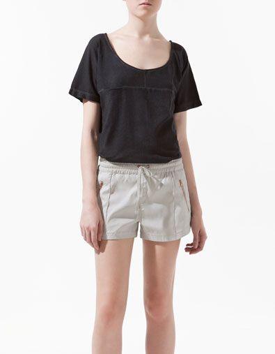T-SHIRT CUTS GARMENT DYE - T-shirts - Damen - ZARA