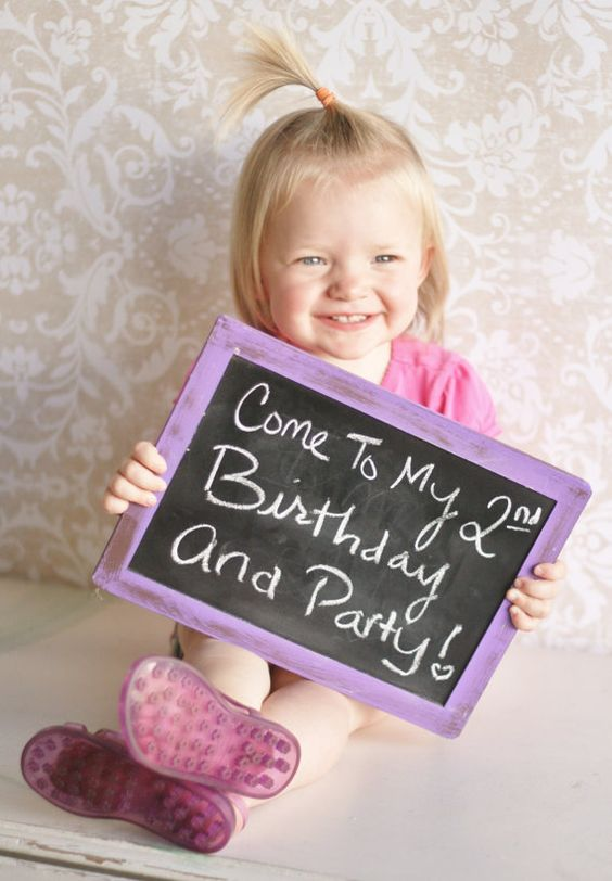 bday party invite idea - Love this for Baby Girl later this year!