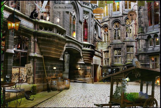 wall murals harry potter diagon alley and harry potter on first time to hogwarts wall mural projects to try