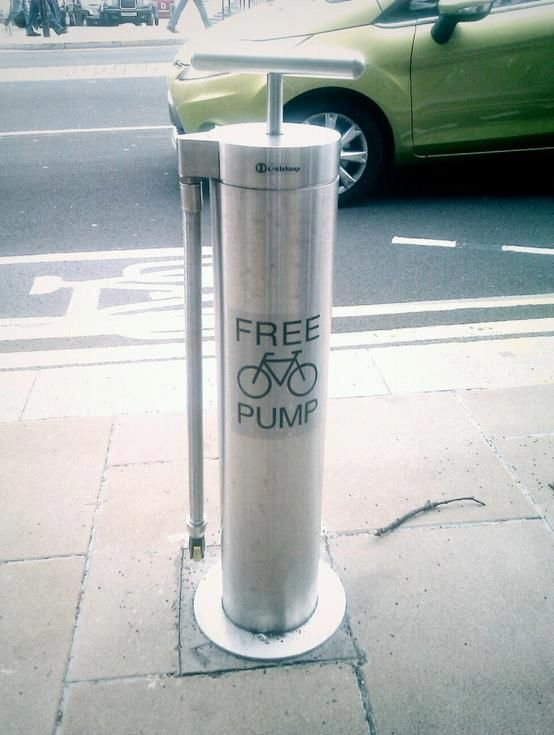 Public Free Bike Pump; that is purely inspiring!
