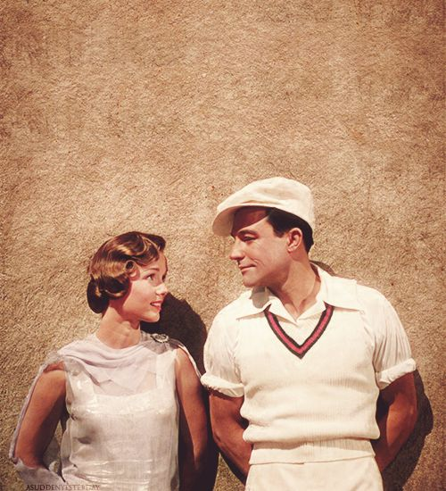 Debbie Reynolds and Gene Kelly, Singin' in the Rain. Reynolds was only 18 years old when she acted and sang this part!