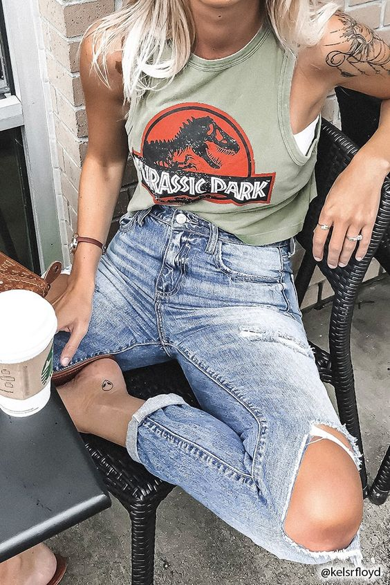 Product Name:Jurassic Park Tank Top, Category:CLEARANCE_ZERO, Price:17.9