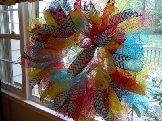 Tracey's shower mesh wreath....so easy to make and super cute!