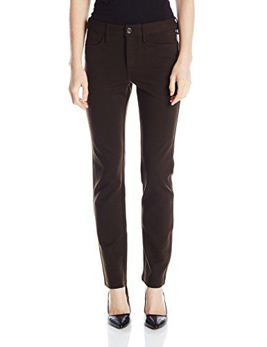NYDJ Women's Petite Samantha Slim Ponte Pants, Eclipse, 4 Petite ...