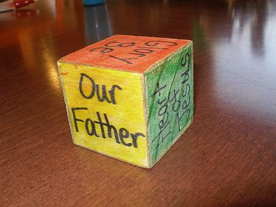 prayer cube - interesting idea for my little one who can't seem to make a decision at prayer time!