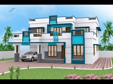 100 Most Beautiful Modern House Front Elevation Designs Part 2 Plan N Small House Front Design Duplex House Design Modern House Exterior