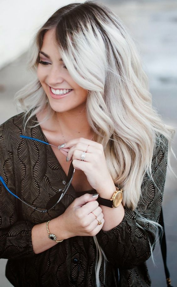 blonde stayhair pinterest racines sombres cheveux et noir. Black Bedroom Furniture Sets. Home Design Ideas