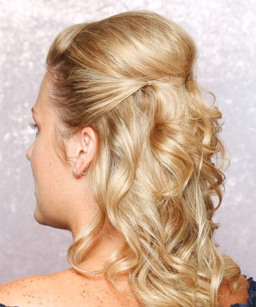 Curly Wedding Hairstyles Half Up: Half Up, Hairstyle For Long Hair And Hair Half Up On Pinterest
