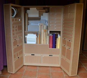 Armoire En Carton Pour Materiel D Atelier Creatif Sg Mobilier Carton Angers Rangement Carton Armoire Atelier Armoire Rangement