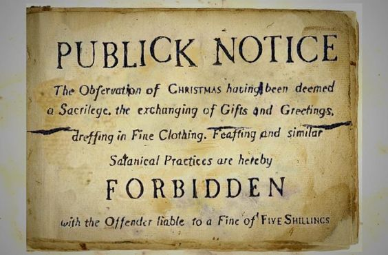 Puritans banned Christmas.