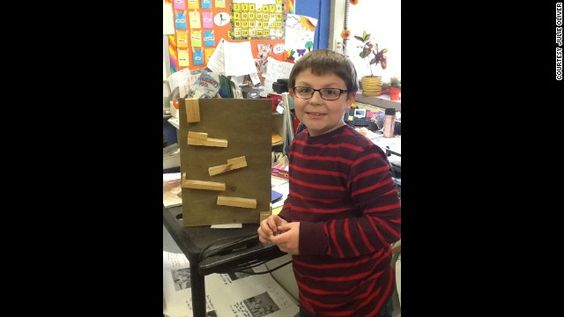 Design the marble run and built the final product at home with his