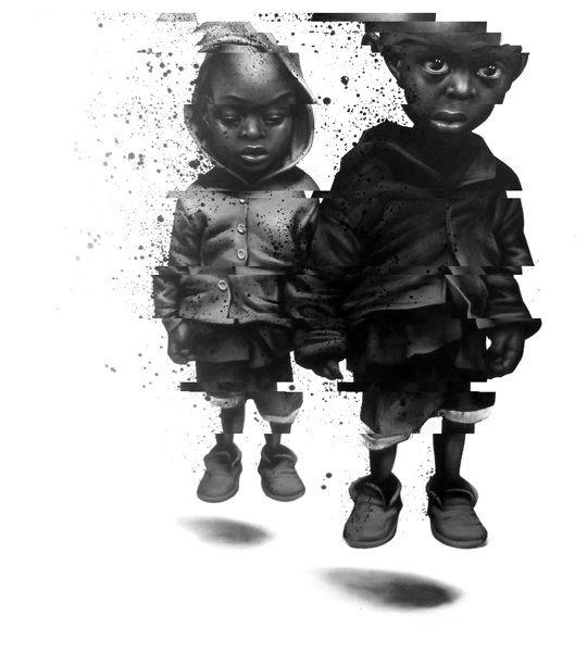 Random Art / Bold Black and White Illustrations by Sit Haiiro
