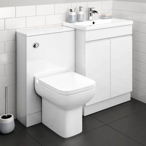 Bathroom Fitted Furniture White Gloss Di 2020