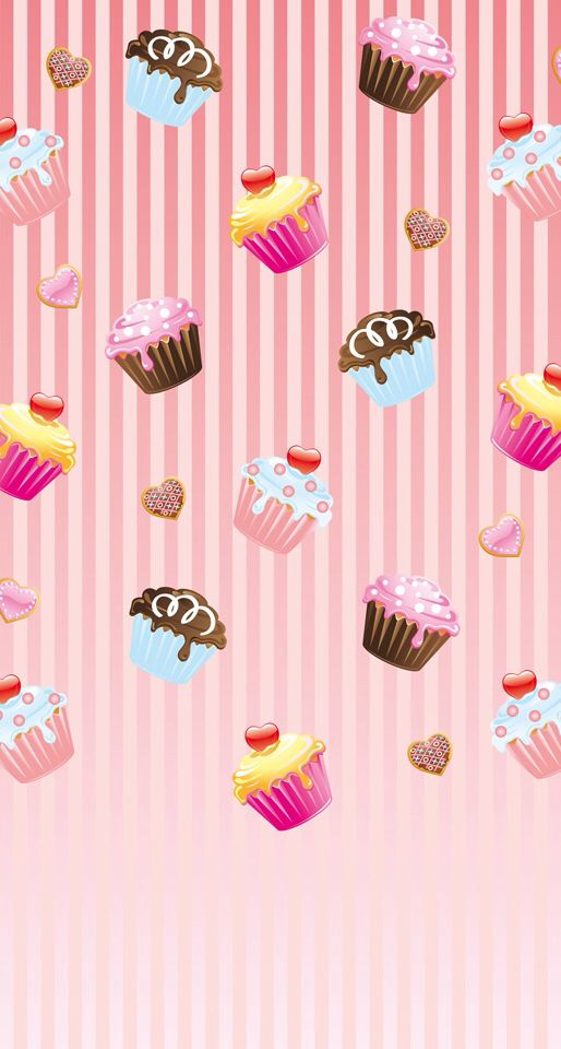 Wallpaper iPhone 5s cupcakes Love... Pinterest Happy, cute wallpapers and cupcake
