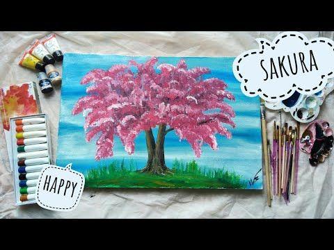 Terkeren 30 Gambar Lukisan Bunga Sakura Pada Kanvas Cara Melukis Pohon Bunga Sakura Acrilic On Canvas 1 Contoh Gamb Lukisan Bunga Lukisan Pohon Gambar Bunga