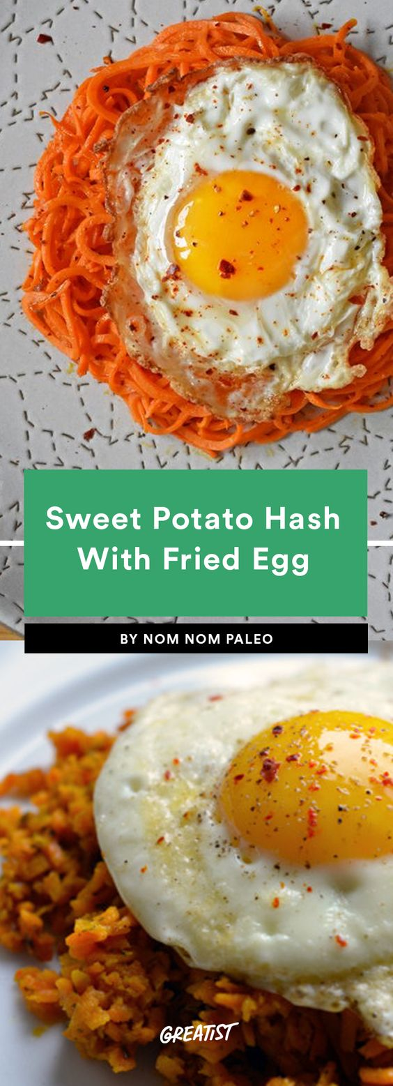 Sweet Potato Hash and Fried Eggs