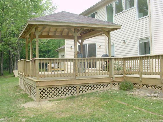 Building Above Ground Pool Deck 12 39 X12 39 Square Pavilion