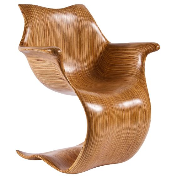 Laminate Cantilever Chair Part Of Robert Reevesu0027 Contour Collection.
