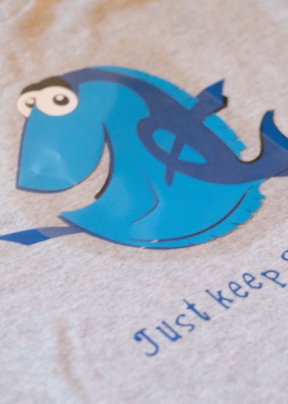 Make a 39 finding dory shirt and learn how to apply iron on for I want to make my own shirts