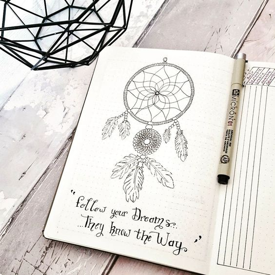 Book Cover Illustration Quotes ~ Bullet journal doodles quotes dream catcher bujo