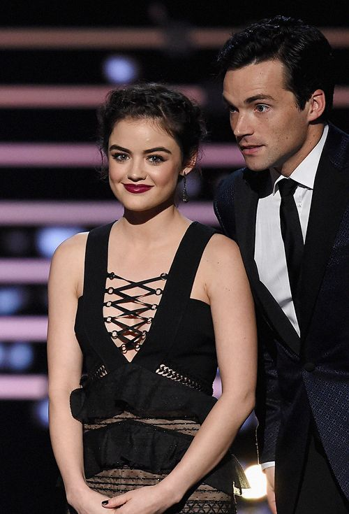 Lucy Hale amp Ian Harding Onstage During The 2016 Peoples Choice Awards January 6th