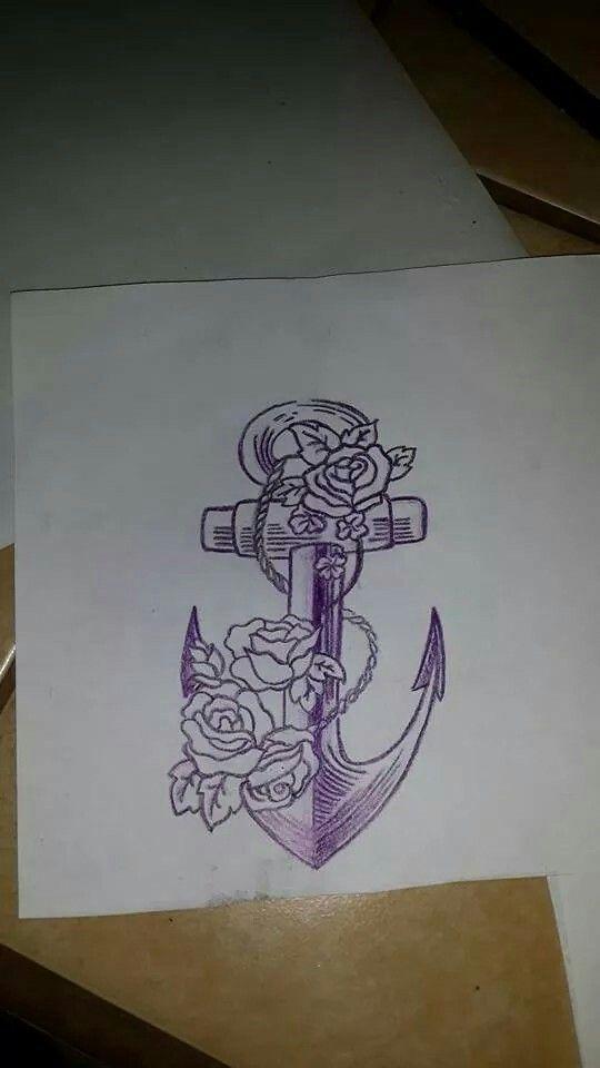 Dibujo de Ancla  Anclas  Pinterest  Tattoo