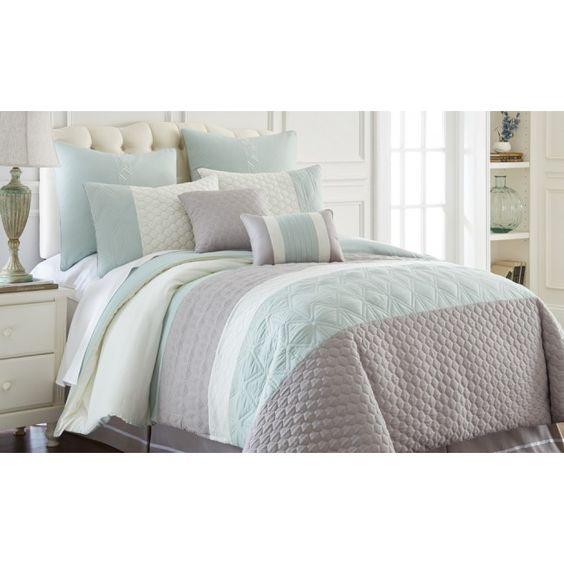Palisades 8 Piece Embroidered Comforter Set