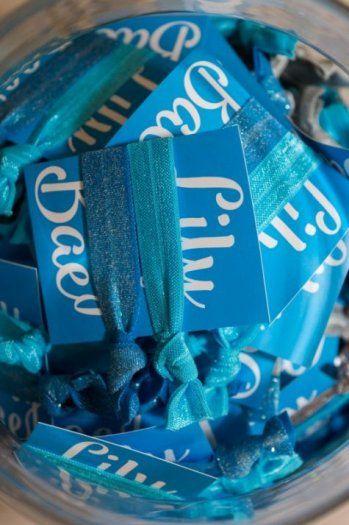 Custom Bat Mitzvah hair ties!   MitzvahMarket.com