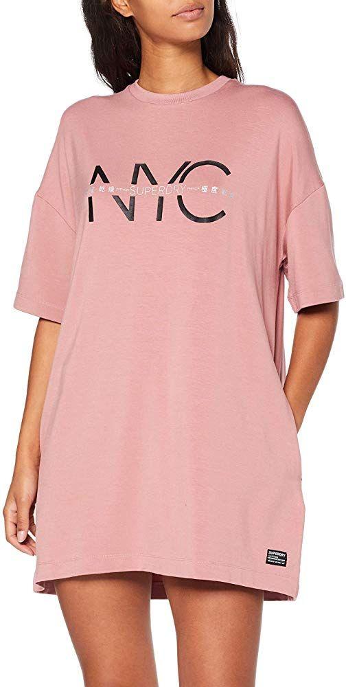 Superdry Damen Boyfriend T Shirt Dress Kleid Kleider Bekleidung Damen Geschenkideen Moda Fashions Trends Kleider Damen Oberhemden Kleider