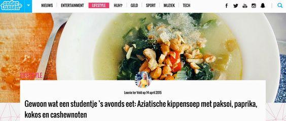Gewoon wat een studentje 's avonds eet: Ondertussen.nl: Aziatische kippensoep met paksoi, ...