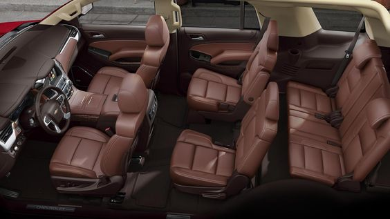 Interior images of the 2016 Chevy Tahoe LTZ Full Size SUV