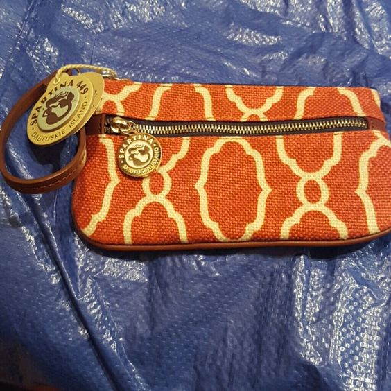 PRICE DROP NWT Sporting Wristlet Sallie Ann print Large Spartina Wristlet. NEW WITH TAG. Spartina  Bags Clutches & Wristlets