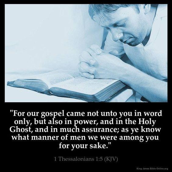 1Thessalonians 1:5 KJV