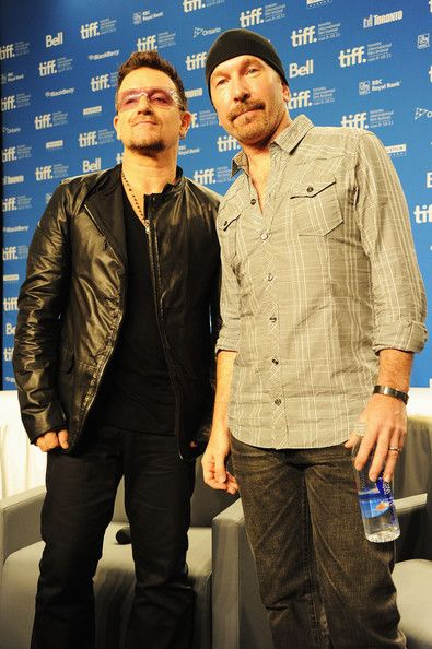 The Edge and Bono at the Toronto International Film Festival