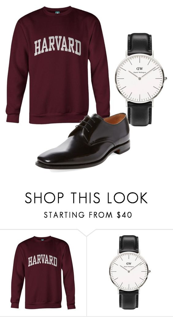 """""""pompous buffoon ...."""" by awewa ❤ liked on Polyvore featuring Daniel Wellington, Loake, men's fashion and menswear"""