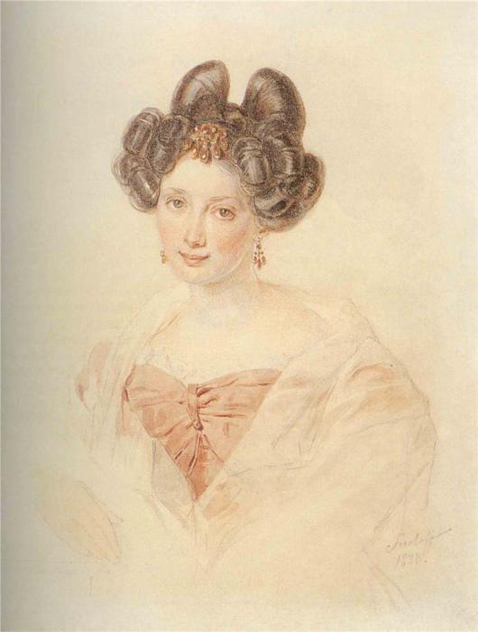 Портрет Екатерины Бакуниной.  П.Соколов. Этот портрет относится к 1828г…: