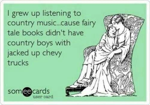 Fairytales don't have jacked up trucks!