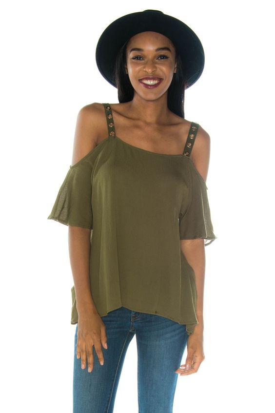 Addison Olive Clothing Top
