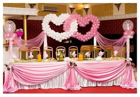 Wedding balloon decor wedding heart balloon decor for Balloon decoration for wedding receptions