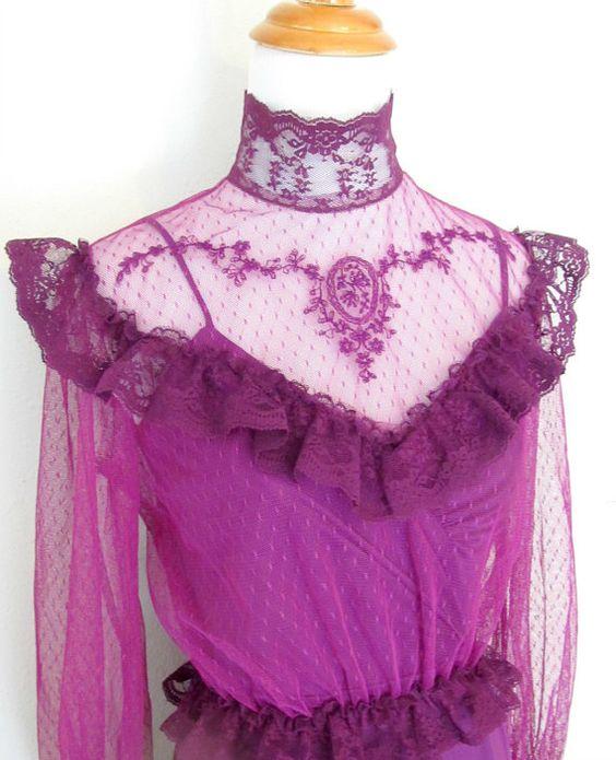 Plum Victorian Dress by SprightlyandCo on Etsy, $32.99