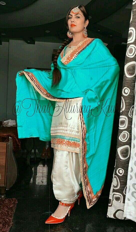 Punjabi Suit Salwarkameez Salwarsuit Indianfashion