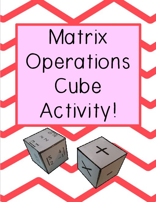 math worksheet : matrix operations activity  the matrix activities and cubes : Adding And Subtracting Matrices Worksheets