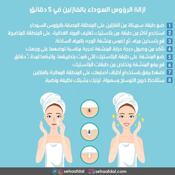 طريقة ازالة الرؤوس السوداء بالفازلين من أول مرة خلال 5 دقائق Pretty Skin Care Beauty Skin Care Routine Skin Care Mask