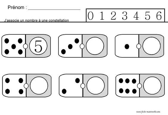Site maternelle : jeu des dominos en ms